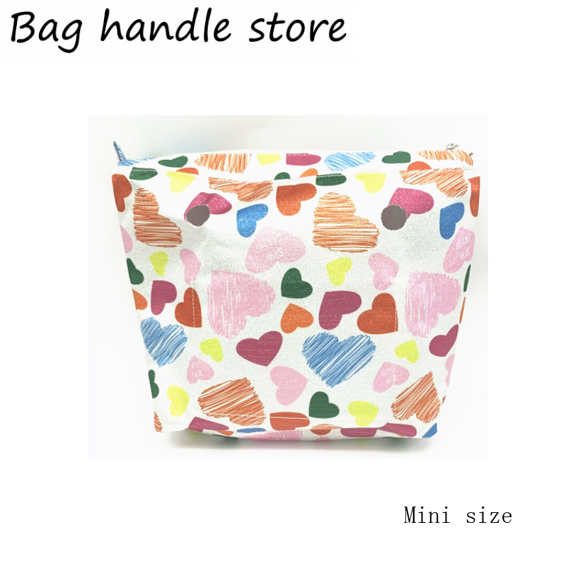 New Design Pattern Mini Size Canvas Insert Inner Bag For Obag Mini 2019