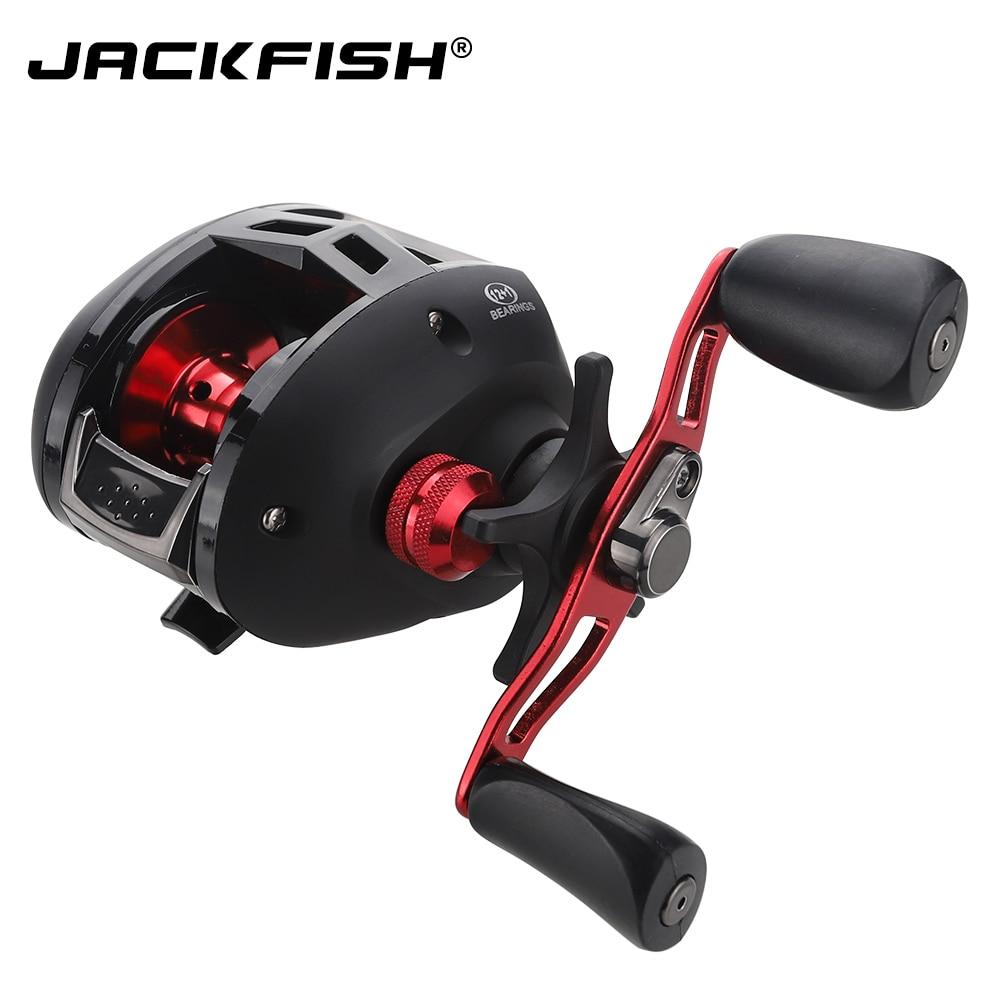 JACKFISH Baitcasting Reel 12+1BB Right/Left Handle Fishing Reel Aluminum Spool Carretilha Pesca Carp 7.3:1 Fishing Gear цена
