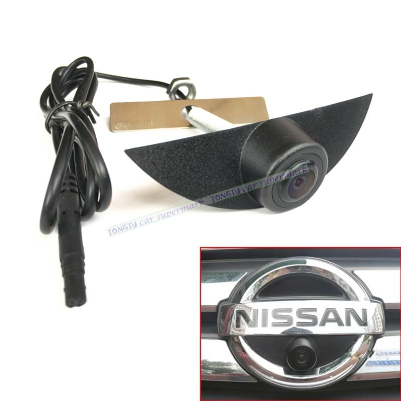 CCD Vehicle Logo Front View Camera For Nissan Tiida Pathfinder Fairlady Livina Geniss X-trail Qashqai Night Vision Waterproof