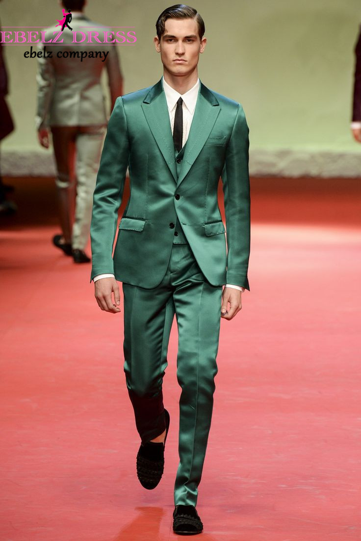 2015 Custome Made Green Slim Fit Men Suits And Blazers Tuxedo ...