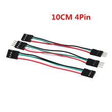 10CM 4P 50pcs/lot Jump Breadboard DuPont Cables Male to Female Flexible Jumper Wires
