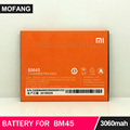 for Xiaomi Redmi Note 2 Battery BM45 3020mAh 100% Original Replacement Battery For Redmi Note2 Prime Mobile Phone Free Shipping