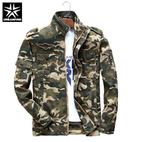 URBANFIND Camouflage Color Men Military Pilot Jacket Size M 3XL Army Green / Khaki Man Casual Spring Coats