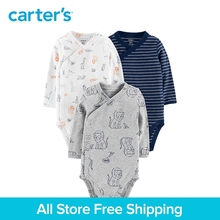 3pcs Cute animals Side-Snap babysoft cotton Bodysuits sets Carter's bady boy all season colthing 126H439/126H438/126H506