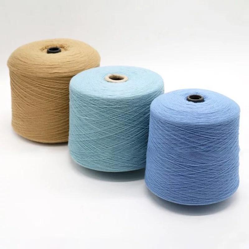 100% hilo de Merino para tejer ropa hilo 28 s/2 blanco gris negro colores respetuosos con el medio ambiente saludable 15 rollos pequeño al por mayor