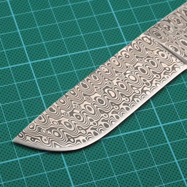 440C 1095 Forged Damascus Steel Knife Blade Blanks Sharp Fixed Hunting Knife camping knifeblade 58HRC