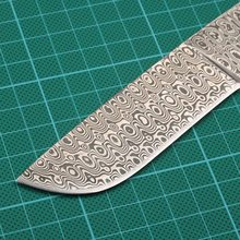 V8-1 Damascus Knife Blanks Sharp Fixed blade Hunting Knife camping knifeblade billet 58HRC
