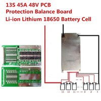 1PC 13S 45A 48V Li Ion Lithium 18650 Battery Cell BMS PCB Protection Balance Board