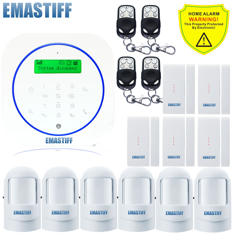 Free shipping.Wireless temperature Detector remote controller GSM sms call Alarm System Smart Home Burglar Security Alarm System лампа светодиодная iek 421997