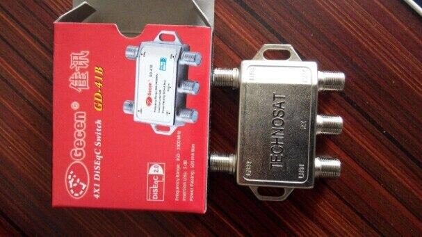 Freeshipping 10pcs/lot GD-41B 4X1 DiSEqC Switch Satellite TV Control Rang 950-2400 MHz js 08a 8 x 1 signal control diseqc switch silver