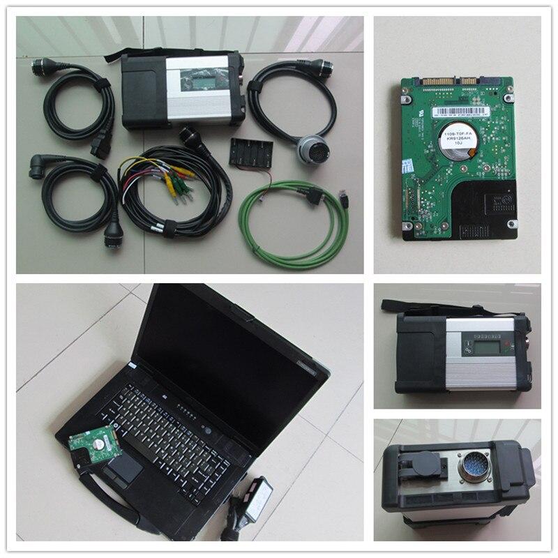 Супер CF 52 ноутбук + mb star C5 SD подключения Wi-Fi инструмент диагностики + v2018.03 новые Программы для компьютера D-как звезда C5 готовы Применение
