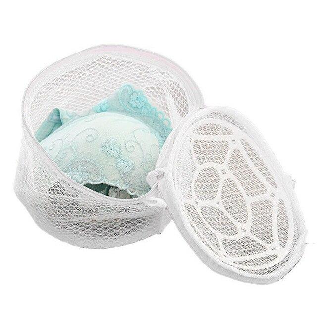 Nuevas señoras cesta de lavandería moda flores Lencería Ropa interior sujetador calcetín cesta de lavado ayuda Net Mesh zip bag Rose para la ropa