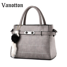 2016 New Arrival Fashion Brand PU Leather Casual Tote Bag for Women Handbag Large Capasity Shoulder Bag Ladies Messenger Bag