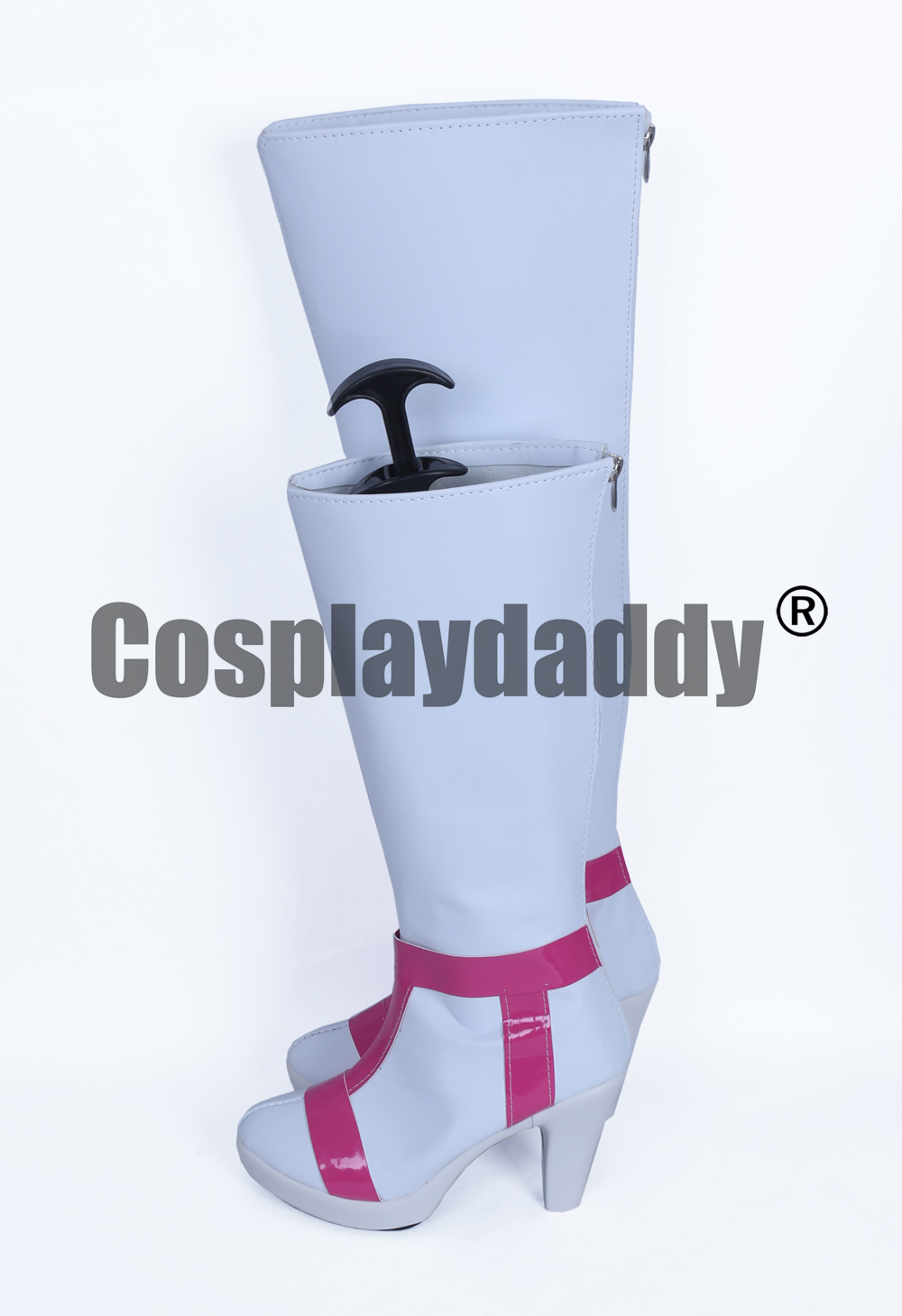 Macross Delta Freyja Halloween Girls White Long Cosplay Shoes Boots H016