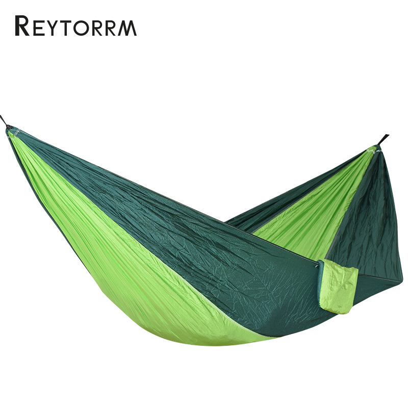 Dropshipping 2 People Portable hammock tent Camping Survival Garden Flyknit Hunting Leisure Travel Double Person Hamak chair 300 200cm 2 people hammock 2018 camping survival garden hunting leisure travel double person portable parachute hammocks