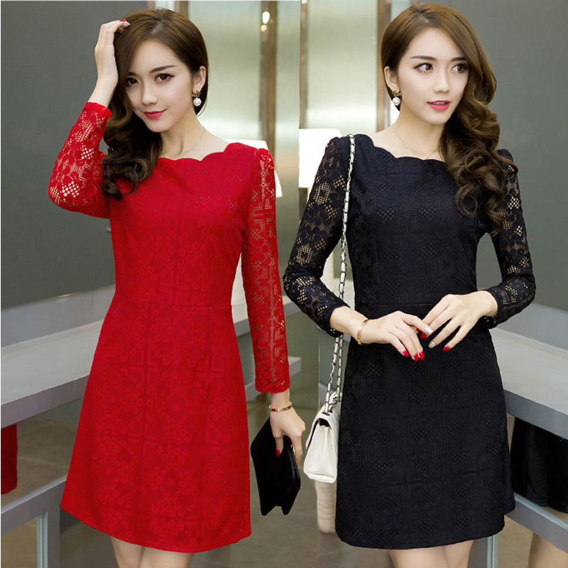 Red lace dress plus size office