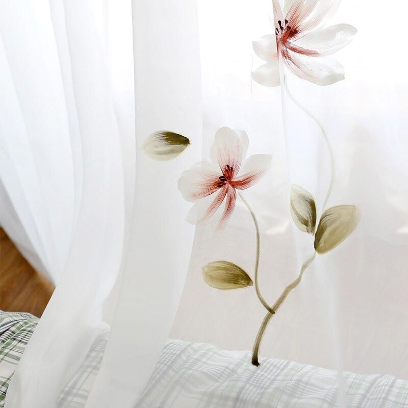 Image 3 - Innermor Франция живопись шторы для гостиной ручная роспись благородные тюль на окна элегантный тюль для кухни ИндивидуальныеЗанавеска   -