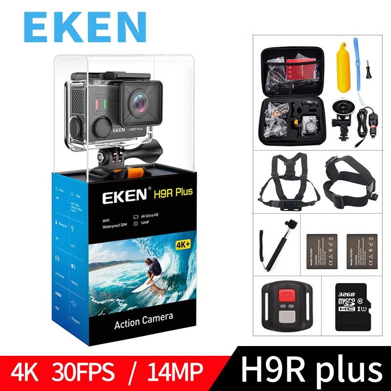 лучшая цена EKEN H9R Plus Original Action Camera Ultra HD 4K H9Rplus Ambarella A12 1080p 60fps 34112 14MP waterproof wifi sport video cam