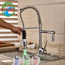 Смеситель для Кухни Однорычажный бортике Весна смеситель с 2 носиками Chrome finishfactory прямые продажи свет