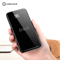 Qi Wireless Charger Power Bank For IPhone 8000mah With Digtal Display Power Bank For Xiaomi Phones