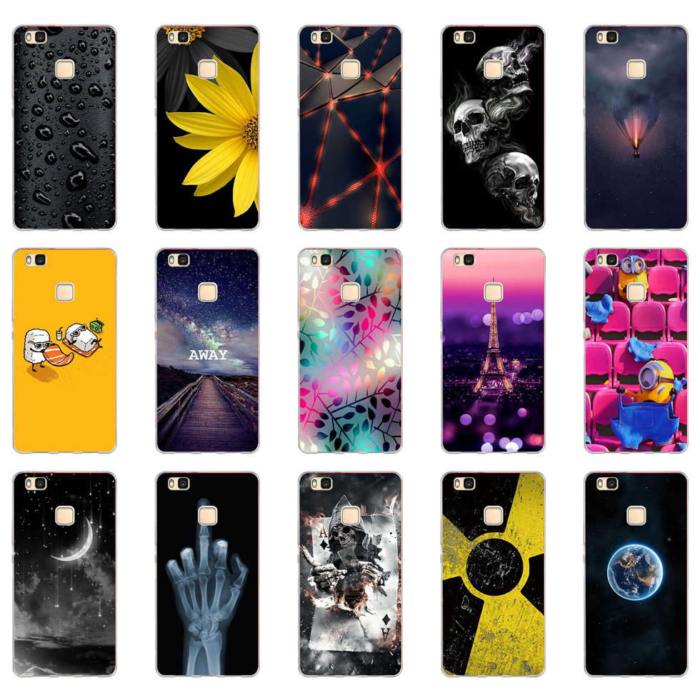K For Cover Huawei P9 Lite Case Cute Animal Silicon Soft TPU for Funda Huawei P9 Lite Case 2016 P9 P9Lite Phone Back Cases
