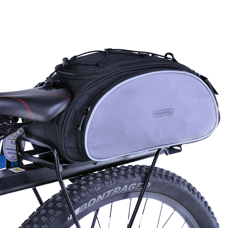 где купить ROSWHEEL Bicycle Carrier Bag 13L Rack Trunk Bike Luggage Back Seat Pannier Outdoor Cycling Storage Handbag Shoulder Strip 14541 дешево
