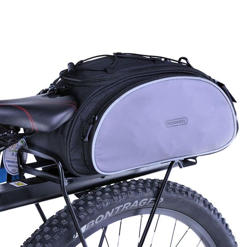 ROSWHEEL Fahrrad Tragetasche 13L Rack Stamm Bike Gepäck Rücksitz Pannier Outdoor Radfahren Lagerung Handtasche Schulter Streifen 14541