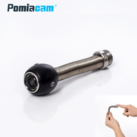 17mm Pipe Drain Sewer Camera Head Flexbile Spring Stainless Steel 6LED Lights Industrial Endoscope Camera Head replacement