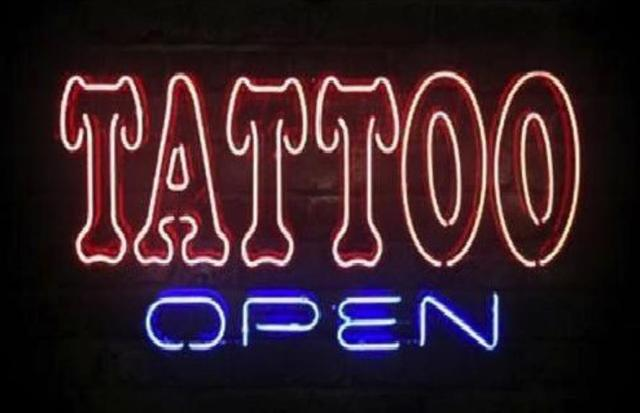 Business custom neon sign board for tattoo open parlor for Neon tattoo signs