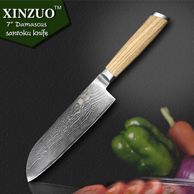 XINZUO 7 inch Japanese chef font b knife b font Japanese Damascus Steel kitchen font b