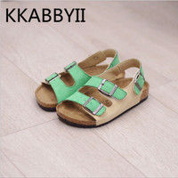 New Brand Spring Summer Boys Girls Fashion PU Non Slip Children S Sandals Upscale Boys And