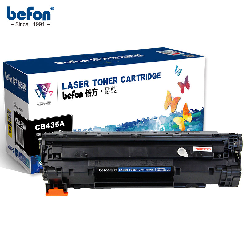 befon Compatible <font><b>35A</b></font> Toner Cartridge Replacement for <font><b>HP</b></font> CB435A CB436A 435A 435 CRG925 912 36 Refilled for laserjet pro 1005 1006 image