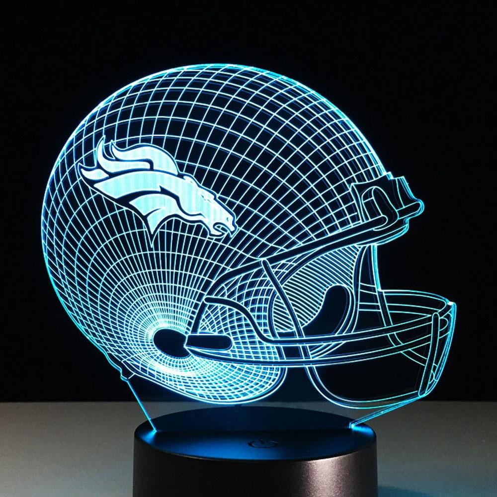 Football Helmet Table Lamp : Popular bronco lights buy cheap lots from