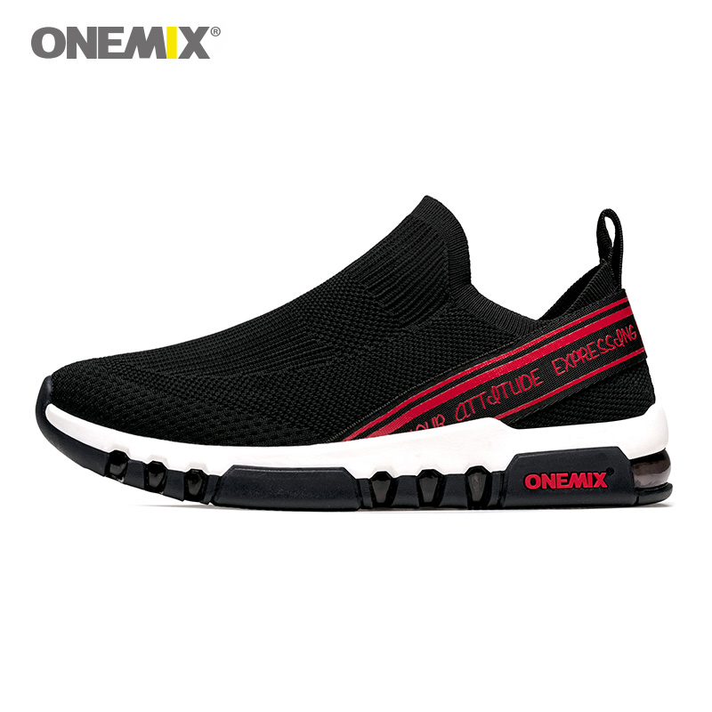 ONEMIX Air Cushion Sneakers Shoes Unisex Training Running Fitness Sports Shoes Mesh Outdoor Shoes Jogging Men's Running Shoes