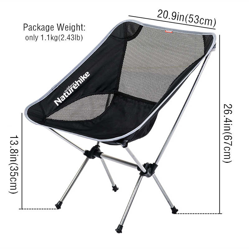 1368911ef5 Naturehike Lightweight Outdoor Compact Low Back Aluminum Folding Picnic  Chair Fold Up Fishing Beach Chair Foldable Camping Chair