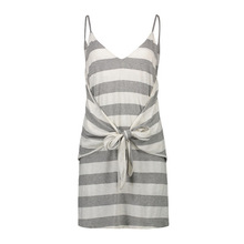 V neck A line dress Women s wear summer new dress sexy v neck low chested