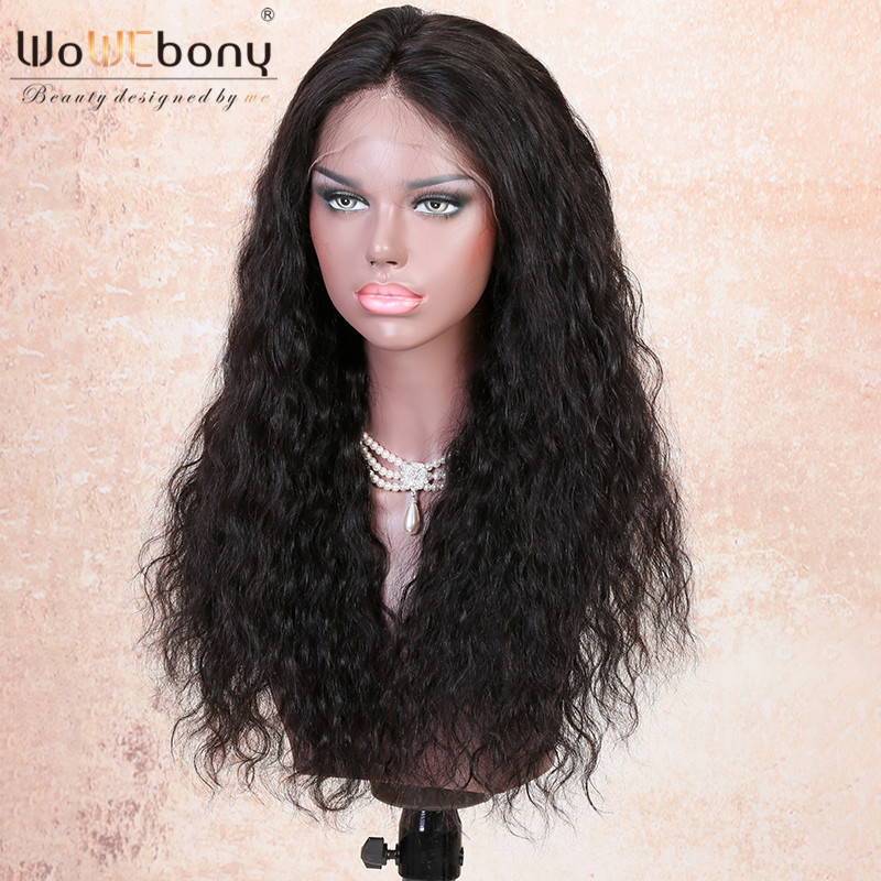 WoWEbony 150% Density 6 Inches Deep Part 360 Lace Wigs Indian Remy Hair Deep Body Wave Pre-plucked Hairline [N360DBW01]