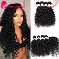 Malaysian Water Wave Virgin Hair With Closure 7a Malaysian Water Wave 4 Bundles With 1Pc Closure Wet and Wavy Human Hair Weave