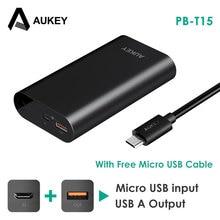 Aukey Quick Charge 3.0 Запасные Аккумуляторы для телефонов 10050 мАч Батарея двухстороннее быстрой зарядки Мощность банк Портативный Зарядное устройство для Galaxy S8 Xiaomi Meizu