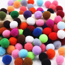 200pcs 10mm Multicolor optional Polyester Soft Pom Pom Ball Fluffy Pompom For Crafting Kids Toys Accessory DIY Crafts Supplies