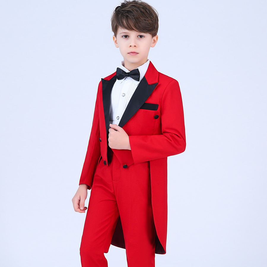 3da12e11ecc43 Children Formal Suit Jacket Wedding boys Dress Suit 4 Pieces set high  quality jacket+pants +shirts+bow tie size 3years 12 years-in Suits from  Mother   Kids ...