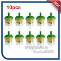 10 unids/pack Gasolina Combustible Gas Filtro con Imán Para Los ATV de China Quad 50cc-160cc Dirt Bike Pit Pocket Mini Chopper Go Kart verde