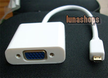 Micro HDMI Male to VGA Female Video Audio Converter Box Cable (Chip inside)