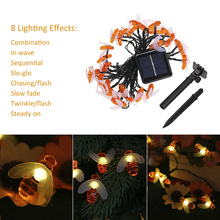 LED Outdoor Solar Lamp LEDs String Lights Fairy Holiday Christmas Party Garland Solar Garden Waterproof Lights все цены