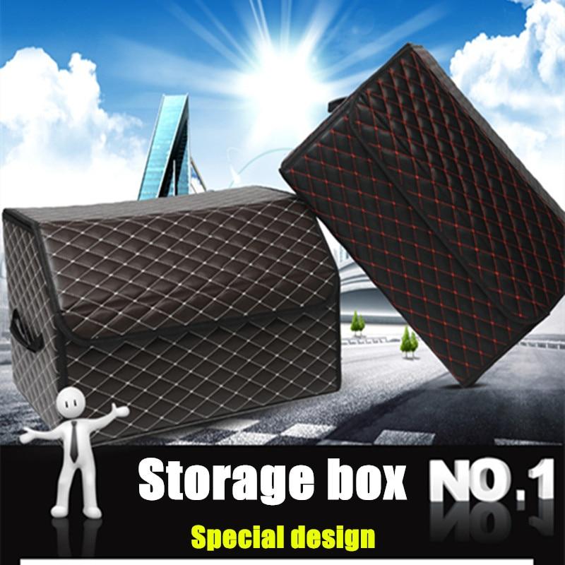 Caja de almacenamiento de cuero de moda, caja de recolección de - Accesorios de interior de coche