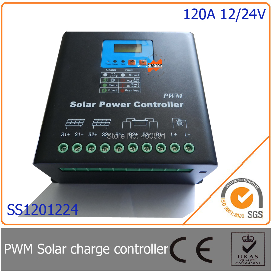 Online Shop 120a 12 24v Pwm Solar Charge Controller With Ledlcd Charger Circuit Display Auto Identification Voltage Mcu Design Excellent Performance Aliexpress
