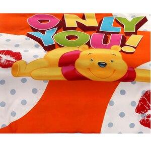 Image 3 - Juego de funda de edredón de Winnie de Disney, ropa de cama de tamaño individual, para niños, decoración de dormitorio, 3 o 4 piezas