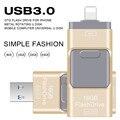 USB Flash Drive 64 ГБ Флешки Высокоскоростной флэш-Накопитель для iphone 5/5s/5c/6/6 Plus/7/ipad USB Stick Flash Drive OTG USB 3.0 16 ГБ