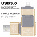 USB Flash Drive 64GB Pendrive High Speed Pen Drive for Iphone 5/5s/5c/6/6 Plus/7/ipad USB Stick Flash Drive OTG USB 3.0 16GB