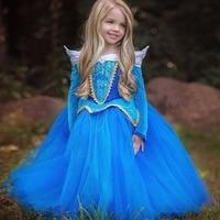 Kids Girls Sleeping Beauty Princess Dress Halloween Cosplay Costume Kid Party Wear Performance Clothes Fantasia